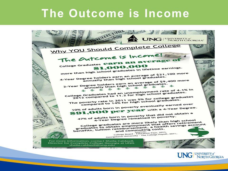 The Outcome is Income