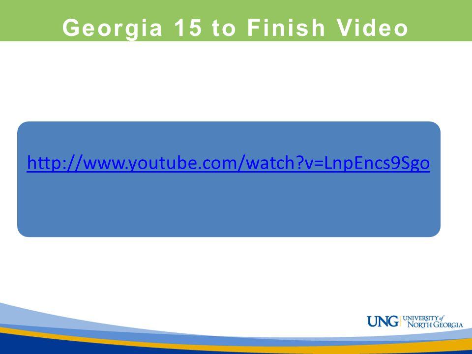 Georgia 15 to Finish Video http://www.youtube.com/watch?v=LnpEncs9Sgo