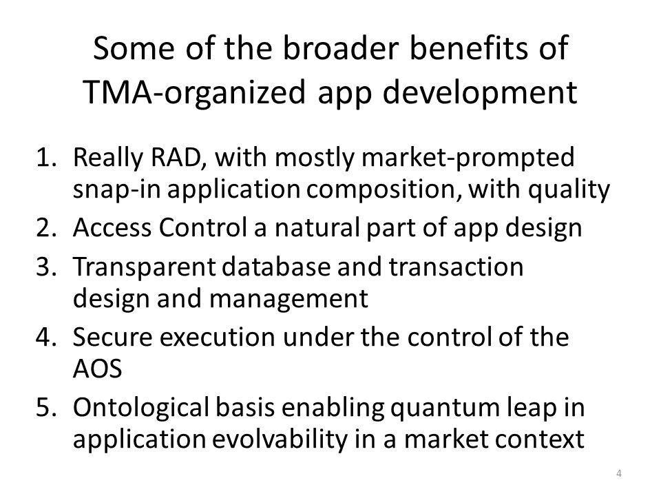 The first step proposed for the IDESG (at the end of the 5 min presentation) SCC immediately involves existing Providers in the TMA-organized specification (that is, using ontologies in a TMA way) of current public interfaces and the modeling of Use Cases.