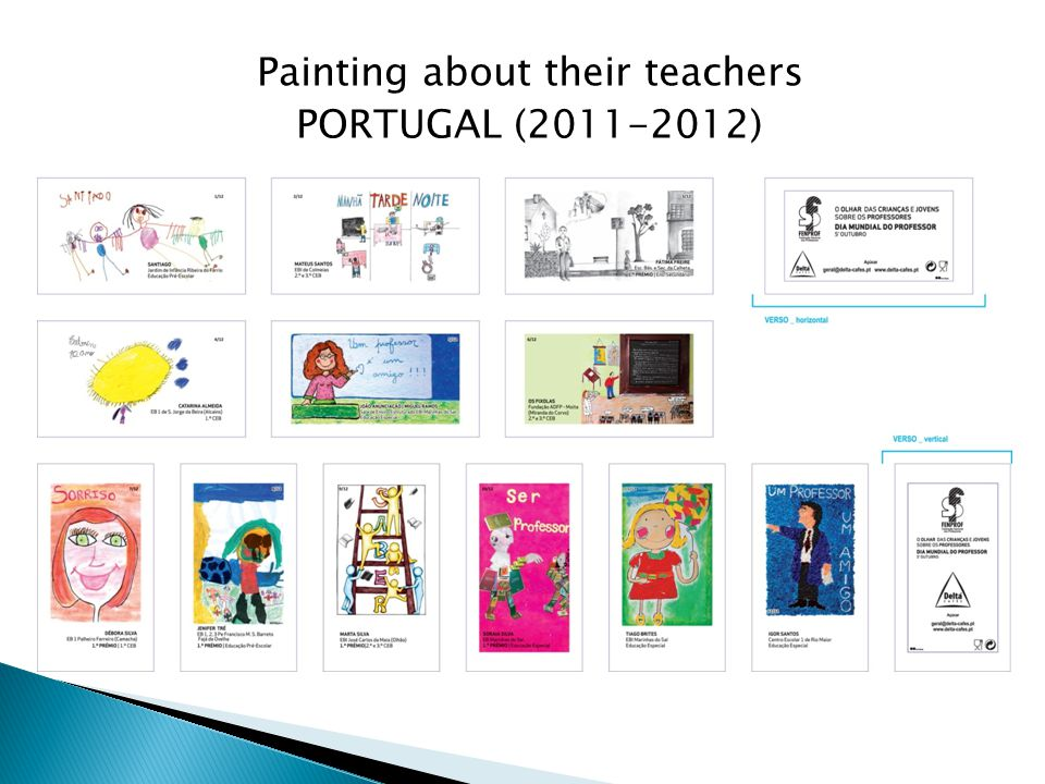 Painting about their teachers PORTUGAL (2011-2012)
