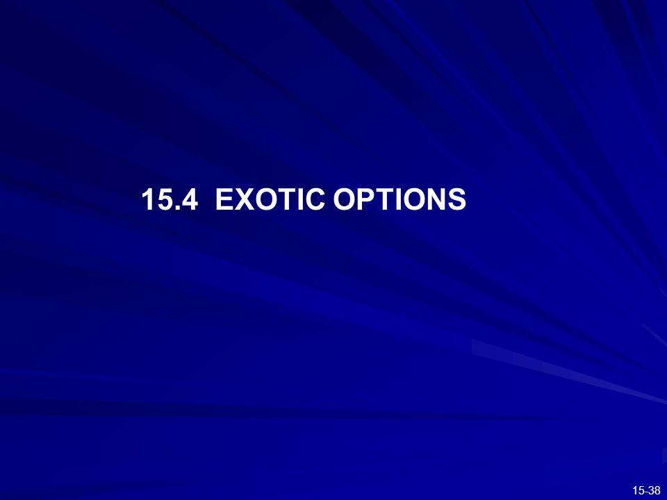 15-38 15.4 EXOTIC OPTIONS