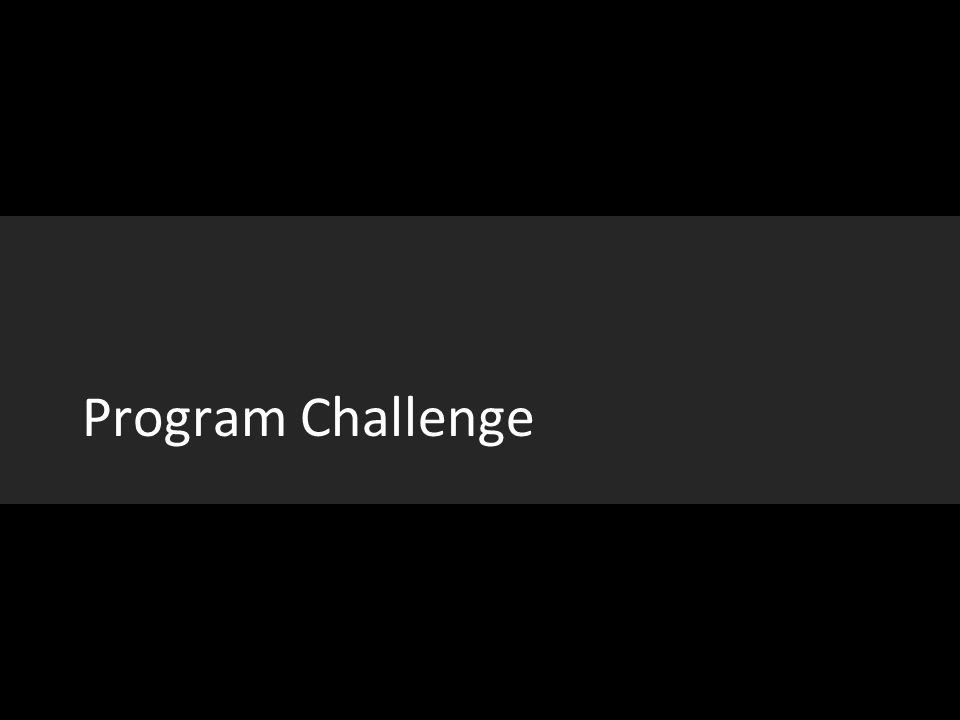 Program Challenge