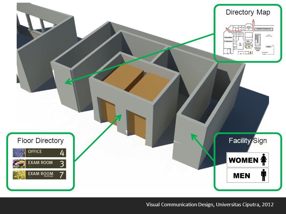 Visual Communication Design, Universitas Ciputra, 2012 Directory Map Facility SignFloor Directory