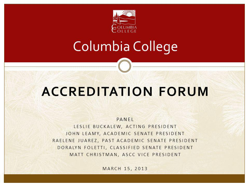What is the purpose of accreditation.