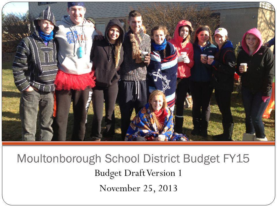 Moultonborough School District Budget FY15 Budget Draft Version 1 November 25, 2013