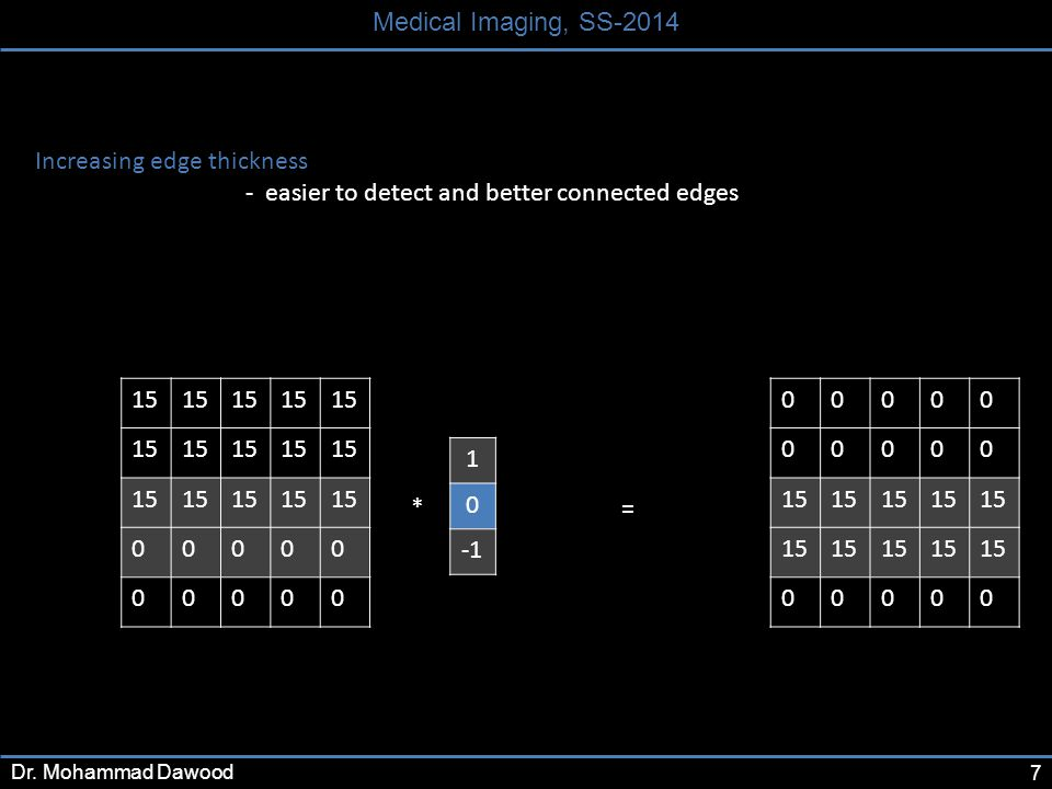 7 Medical Imaging, SS-2014 Dr.