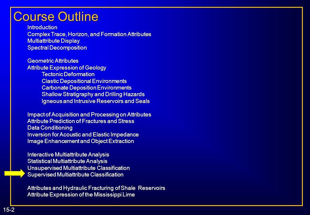 Supervised Multiattribute Classification Kurt J. Marfurt (The University of Oklahoma) Kurt J. Marfurt (The University of Oklahoma) 3D Seismic Attribut