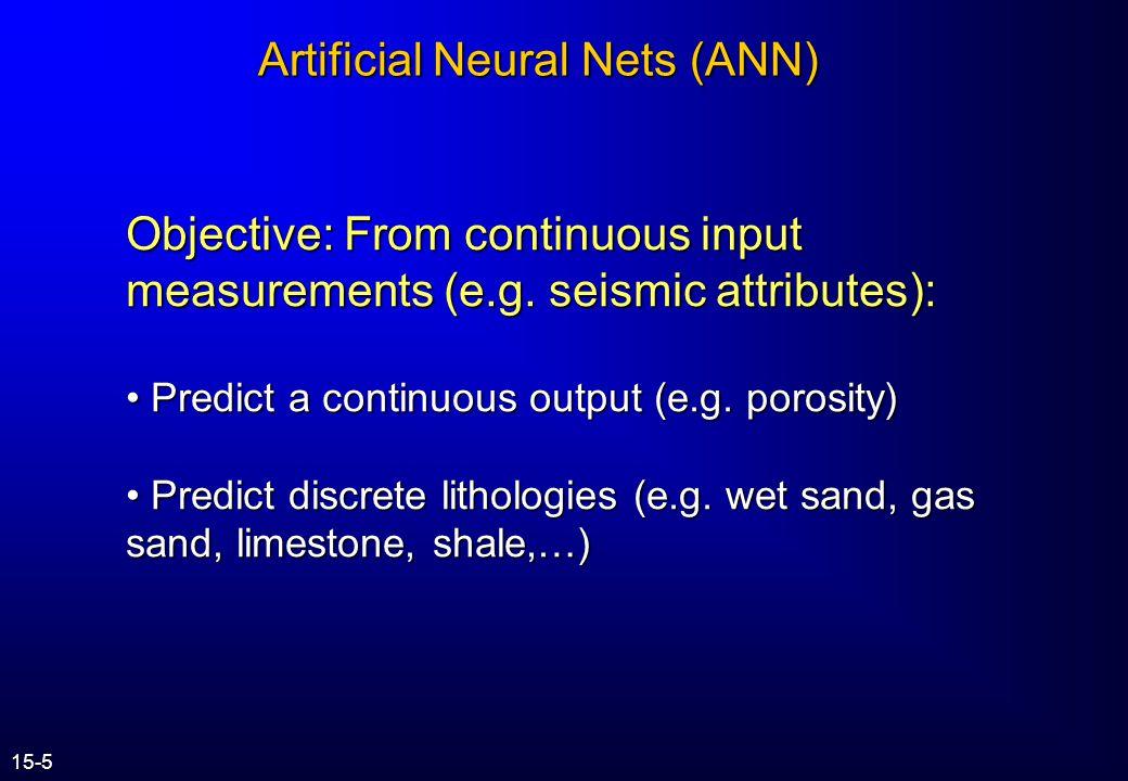 Artificial Neural Nets (ANN) Neurons 15-4