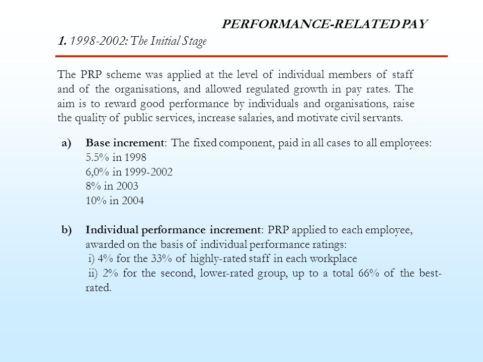 PERFORMANCE-RELATED PAY 1.