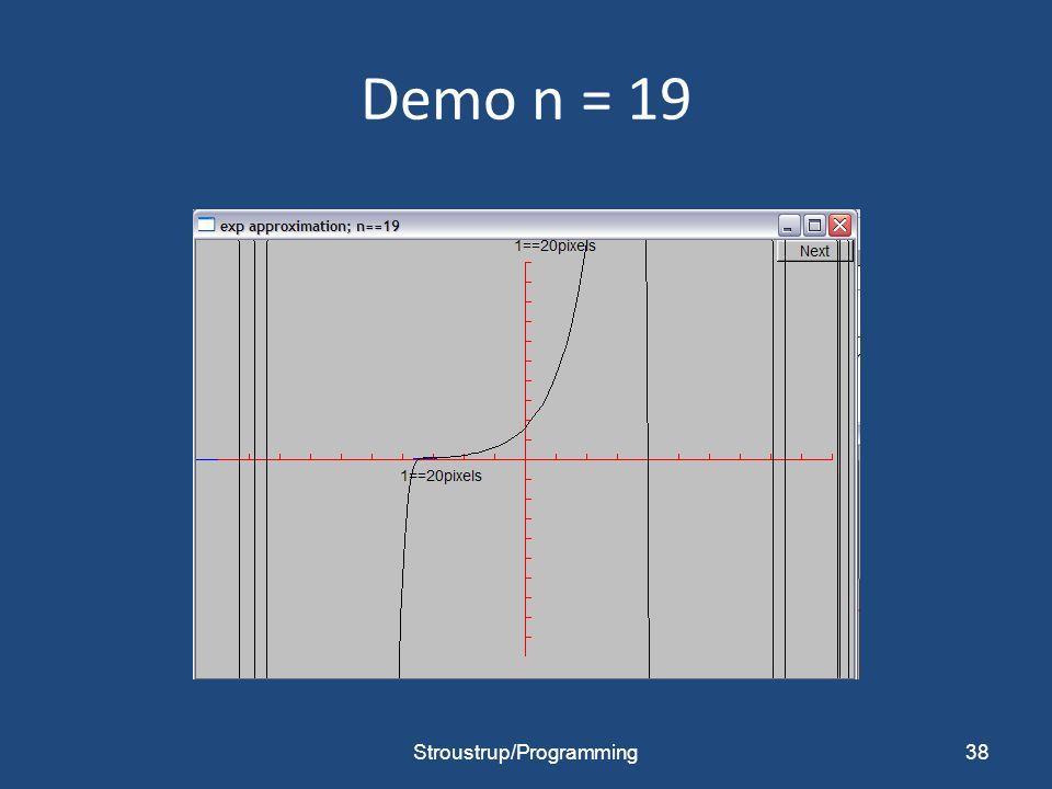 Demo n = 19 Stroustrup/Programming38