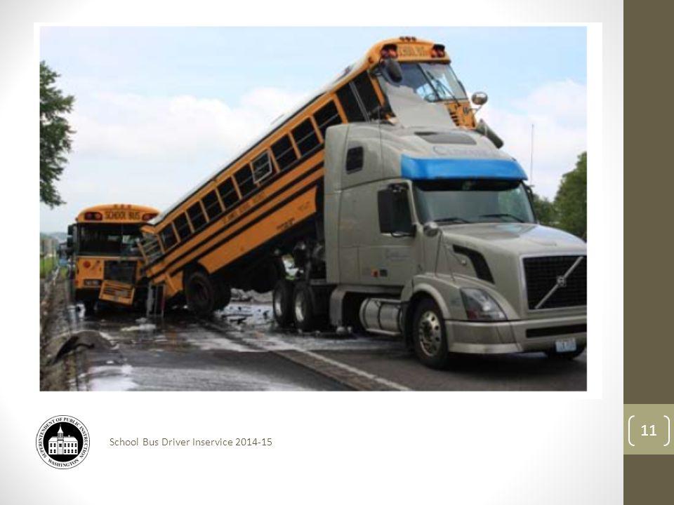School Bus Driver Inservice 2014-15 11