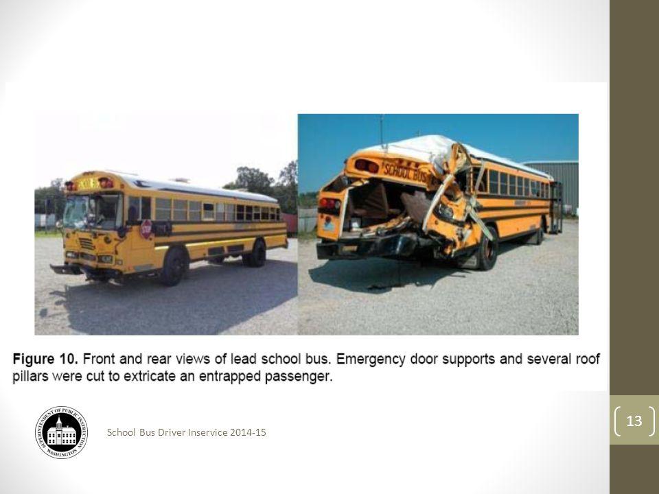 School Bus Driver Inservice 2014-15 13
