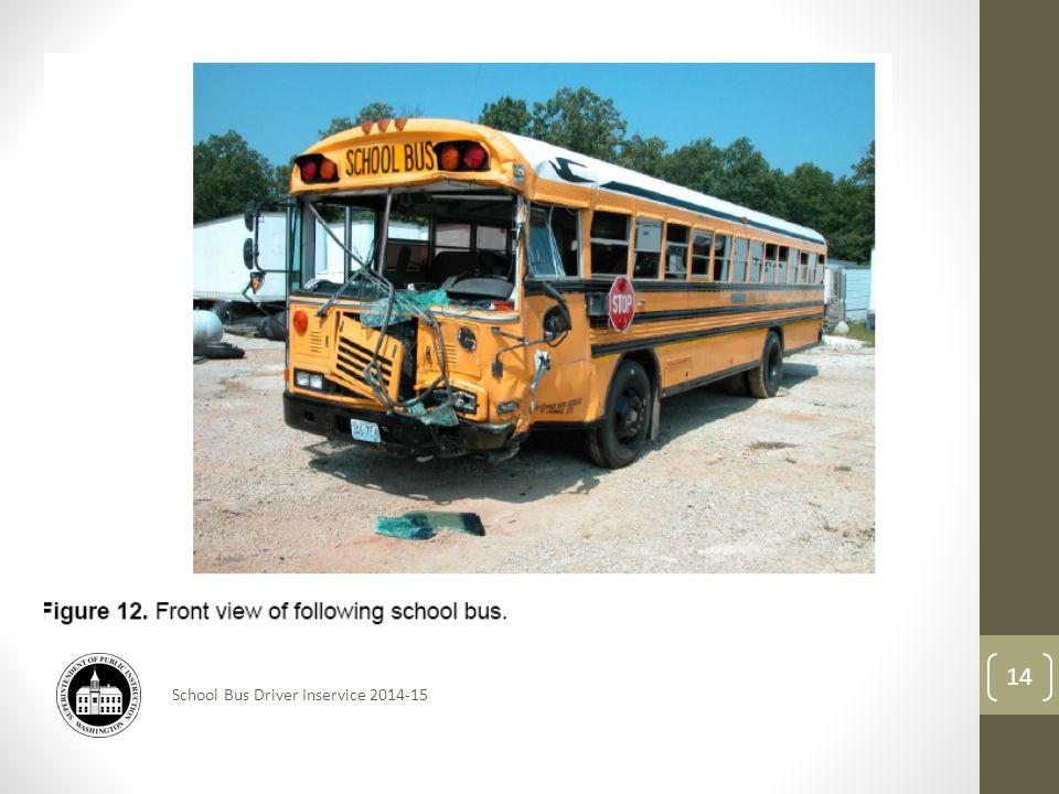 School Bus Driver Inservice 2014-15 14