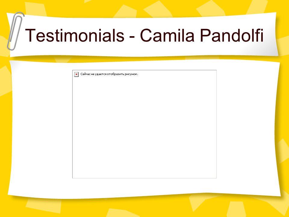 Testimonials - Camila Pandolfi