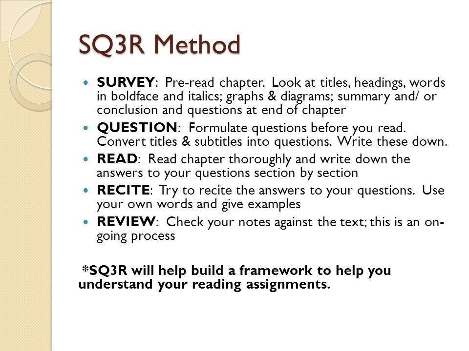 The Sq3 R Strategy - Lessons - Tes Teach
