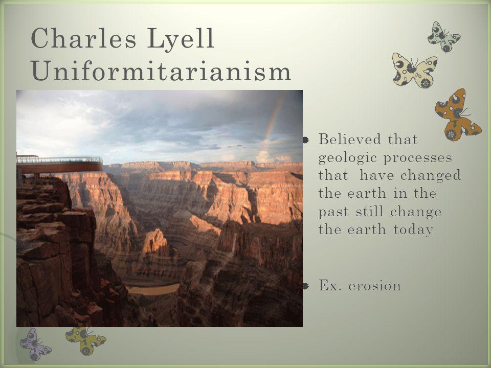 Charles Lyell Uniformitarianism