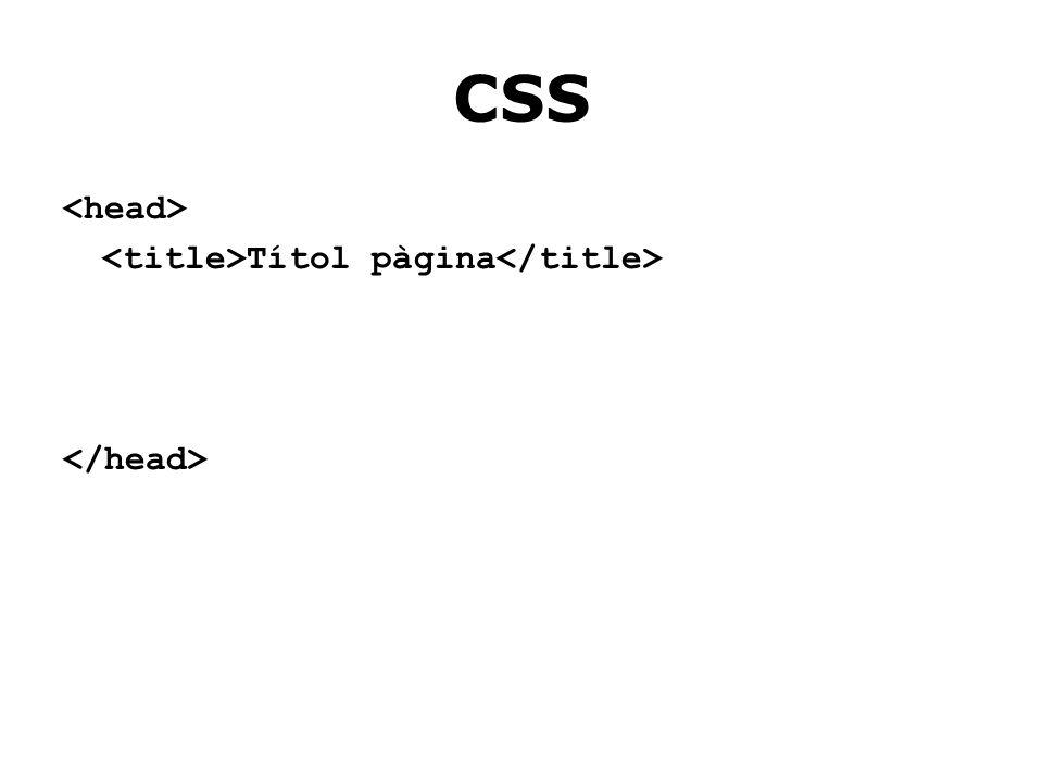 CSS Títol pàgina