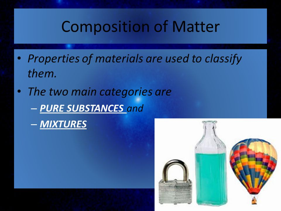 CHEMICAL CHANGE – produces heat, light, sound, color change, precipitate, and gas bubbles.