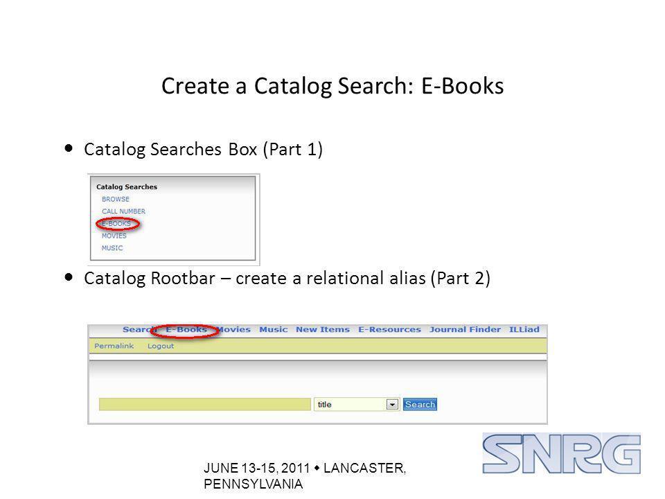 JUNE 13-15, 2011  LANCASTER, PENNSYLVANIA Custom Pages: Back Button Fix