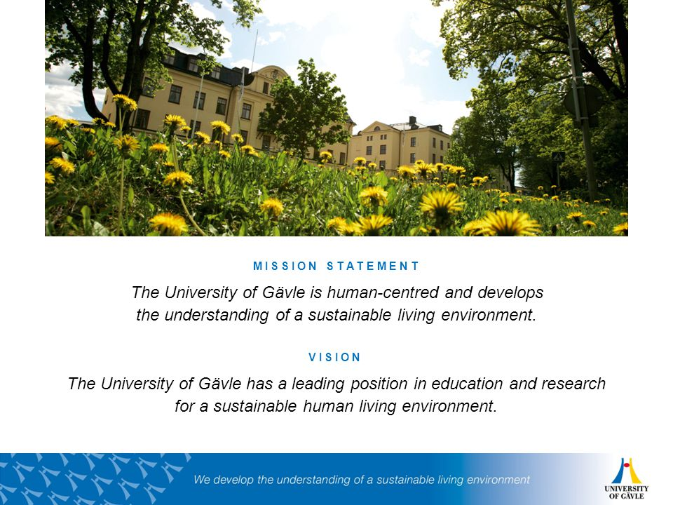 University of Gävle Collaboration programme at the Faculty of Engineering and Sustainable Development Magnus Lemoine Anna Näsman