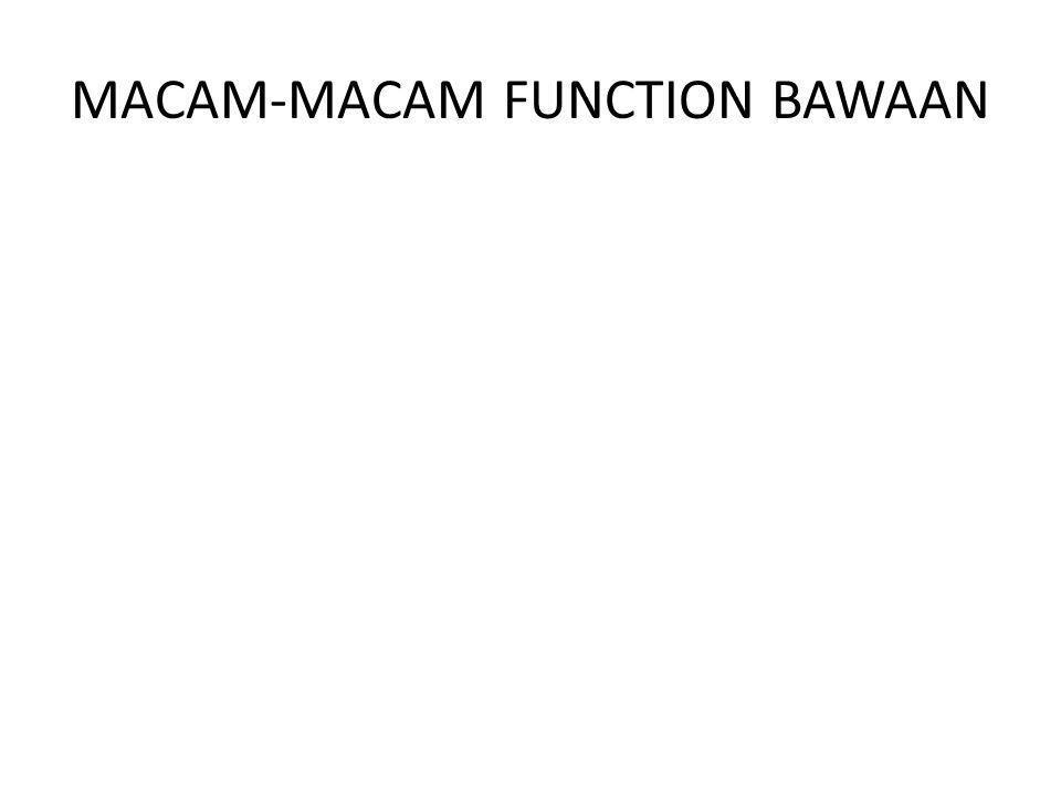 MACAM-MACAM FUNCTION BAWAAN