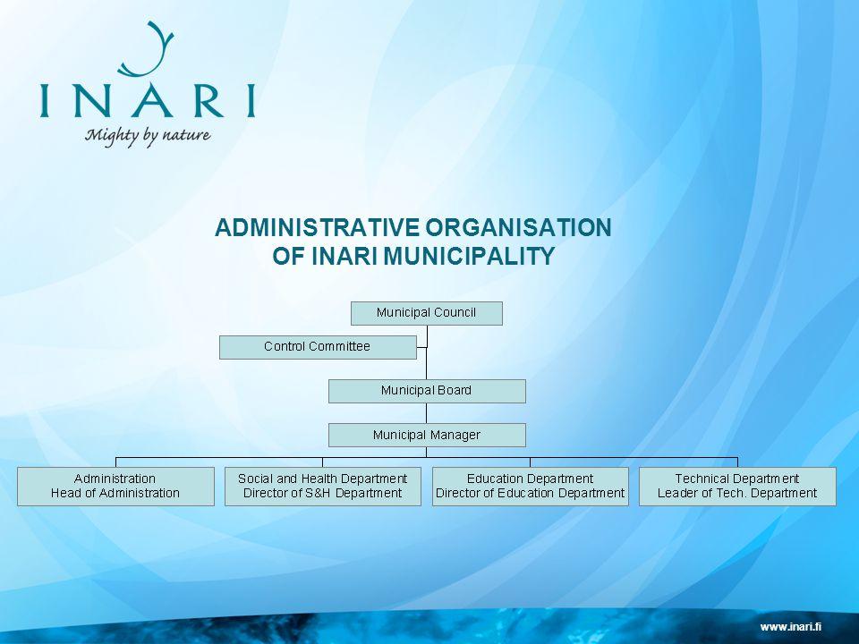 www.inari.fi ADMINISTRATIVE ORGANISATION OF INARI MUNICIPALITY