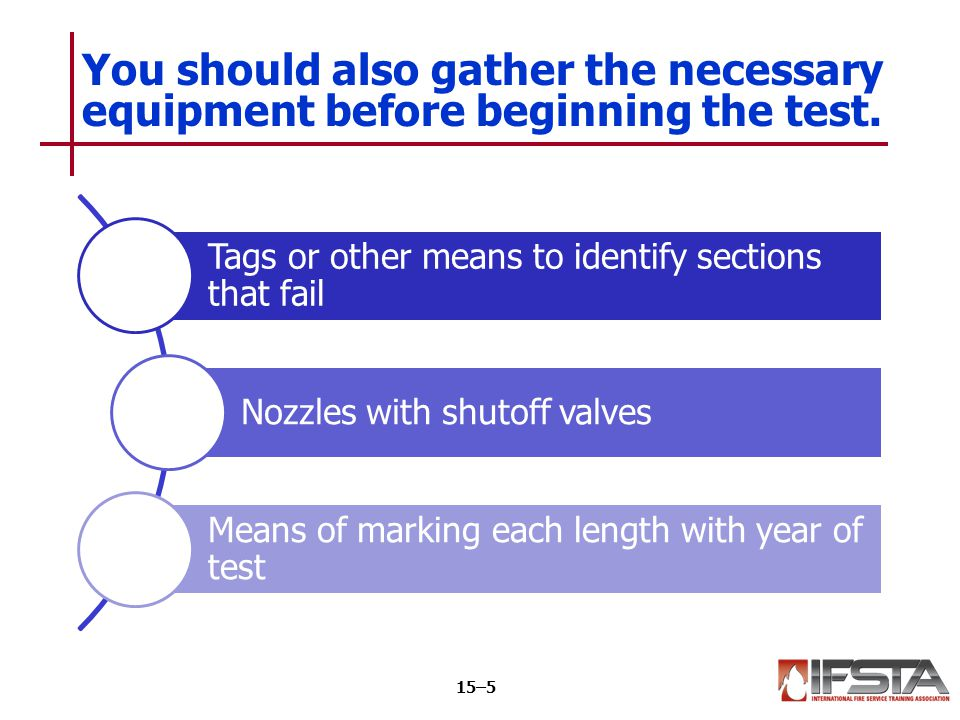 Tags or other means to identify sections that fail Nozzles with shutoff valves Means of marking each length with year of test You should also gather t