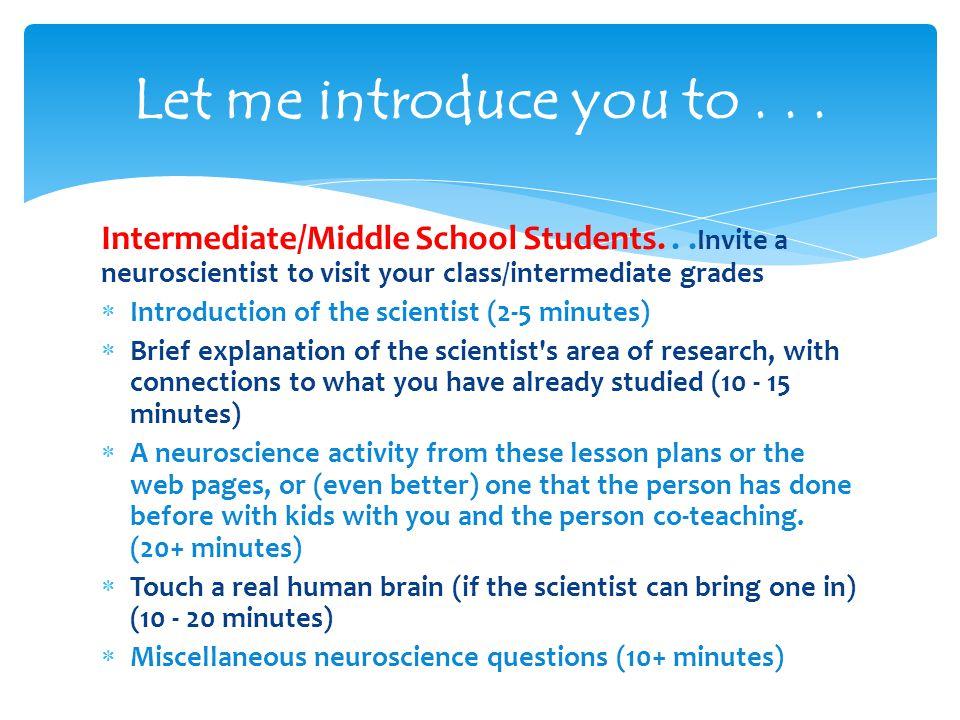 Intermediate/Middle School Students...