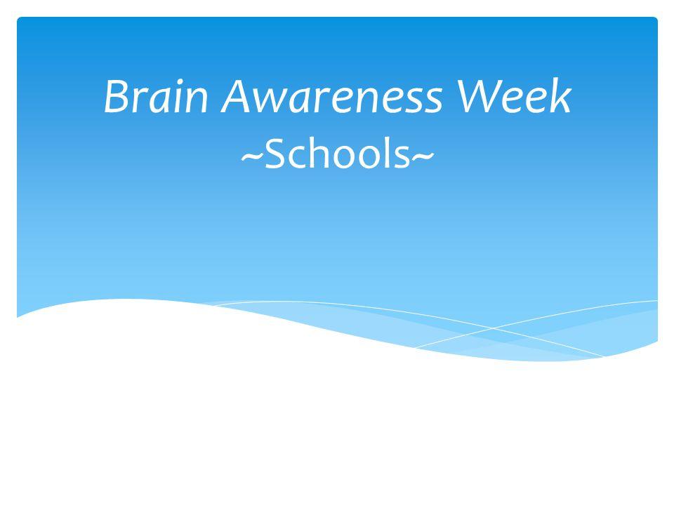 Brain Awareness Week ~Schools~