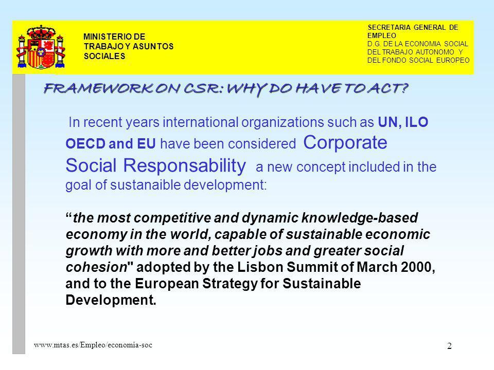 2 MINISTERIO DE TRABAJO Y ASUNTOS SOCIALES DEL TRABAJO AUTONOMO Y SECRETARIA GENERAL DE EMPLEO D.G. DE LA ECONOMIA SOCIAL DEL FONDO SOCIAL EUROPEO www