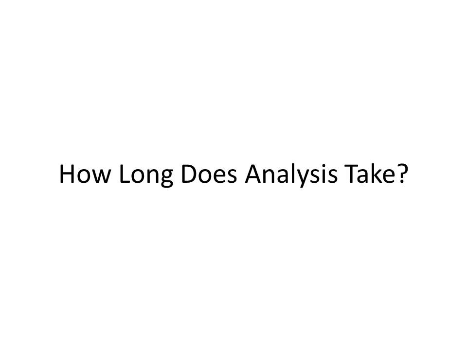 How Long Does Analysis Take