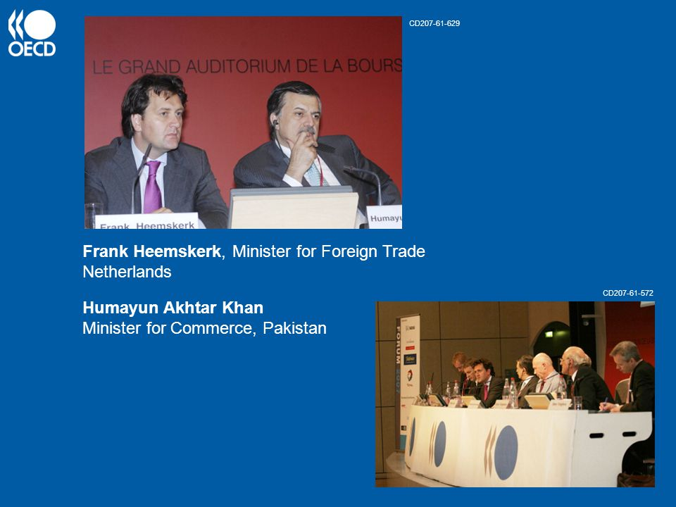 Frank Heemskerk, Minister for Foreign Trade Netherlands Humayun Akhtar Khan Minister for Commerce, Pakistan CD207-61-629 CD207-61-572