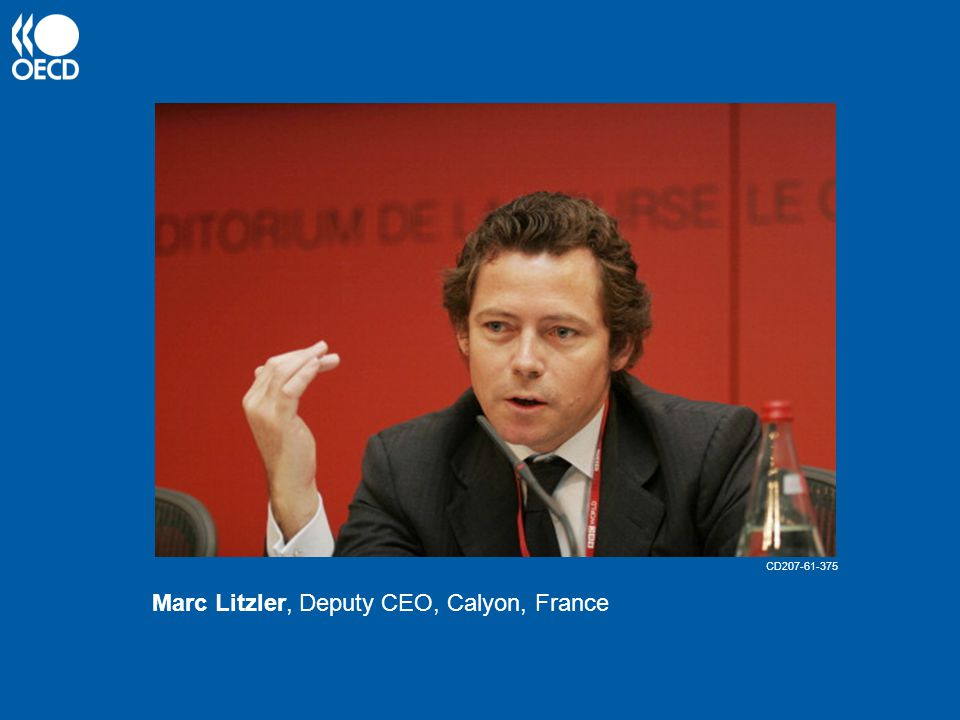 Marc Litzler, Deputy CEO, Calyon, France CD207-61-375