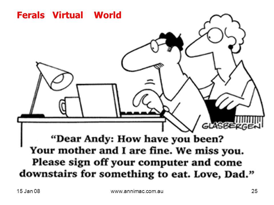 15 Jan 08www.annimac.com.au25 Ferals Virtual World