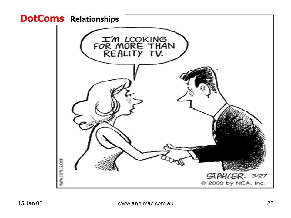 15 Jan 08www.annimac.com.au28 DotComs Relationships