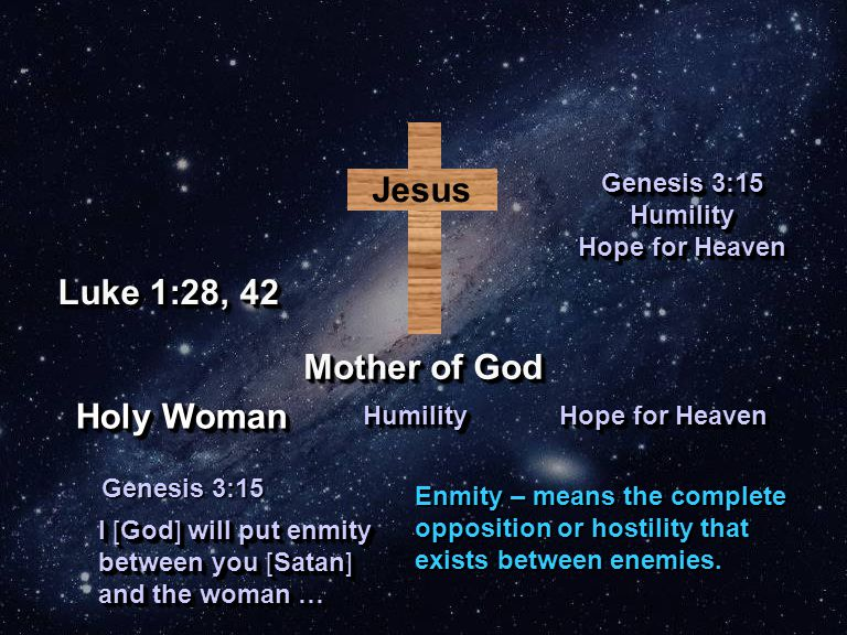 Jesus Mother of God Genesis 3:15 Humility Hope for Heaven Genesis 3:15 Humility Hope for Heaven I [God] will put enmity between you [Satan] and the wo
