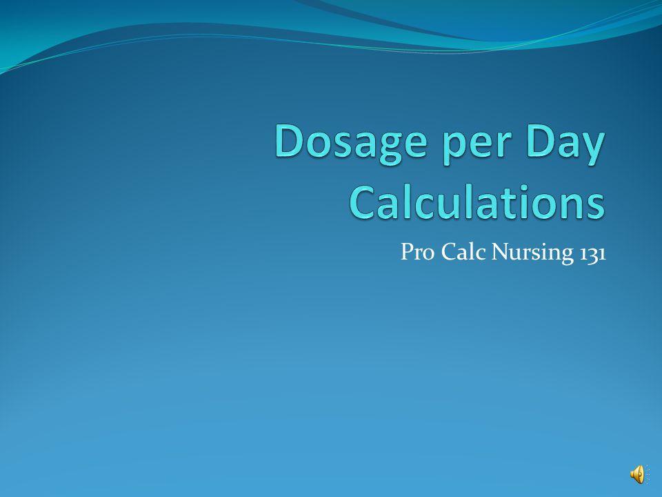 Pro Calc Nursing 131
