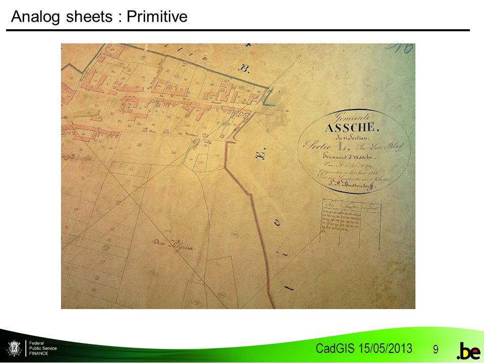 CadGIS 15/05/2013 9 Analog sheets : Primitive