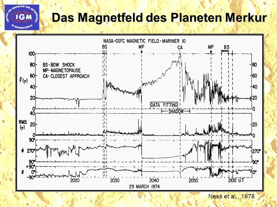 Das Magnetfeld des Planeten Merkur Ness et al., 1978