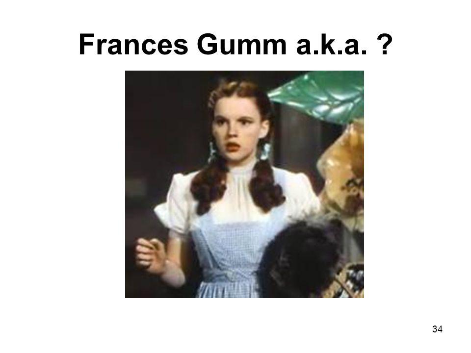 Frances Gumm a.k.a. ? 34