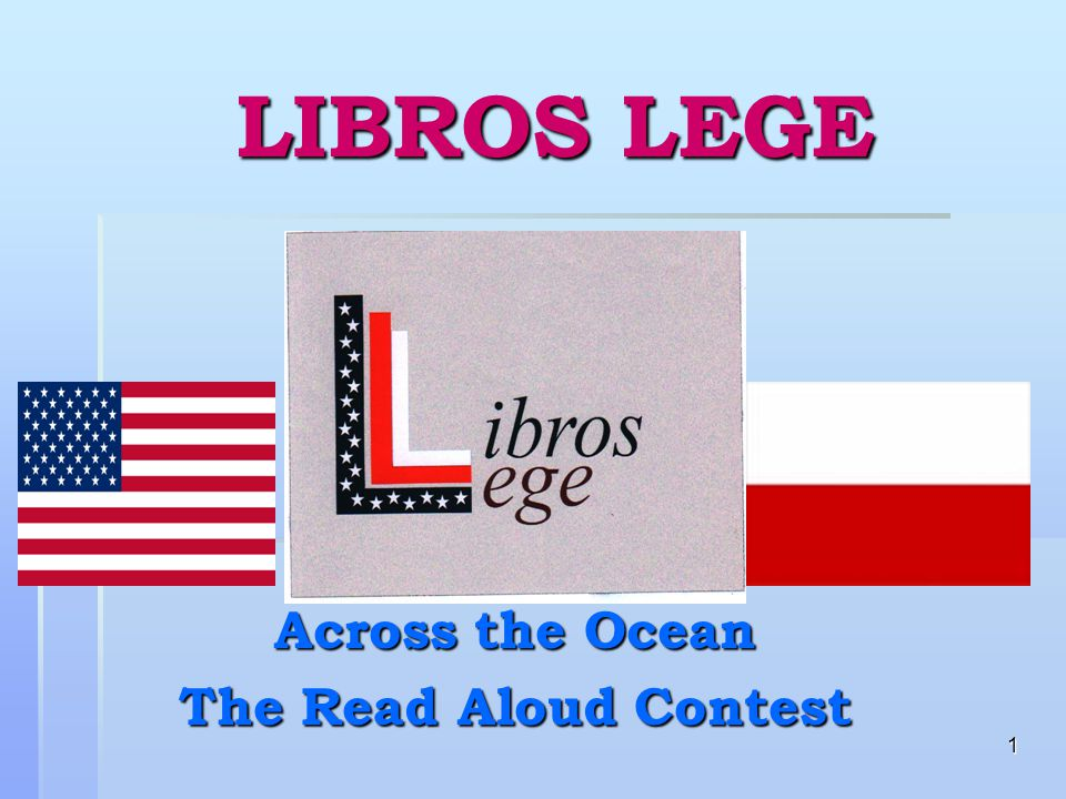 1 LIBROS LEGE Across the Ocean The Read Aloud Contest