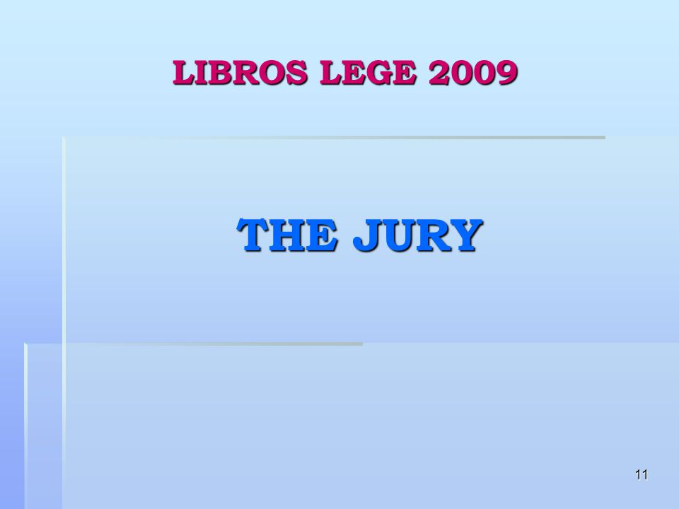 11 LIBROS LEGE 2009 THE JURY