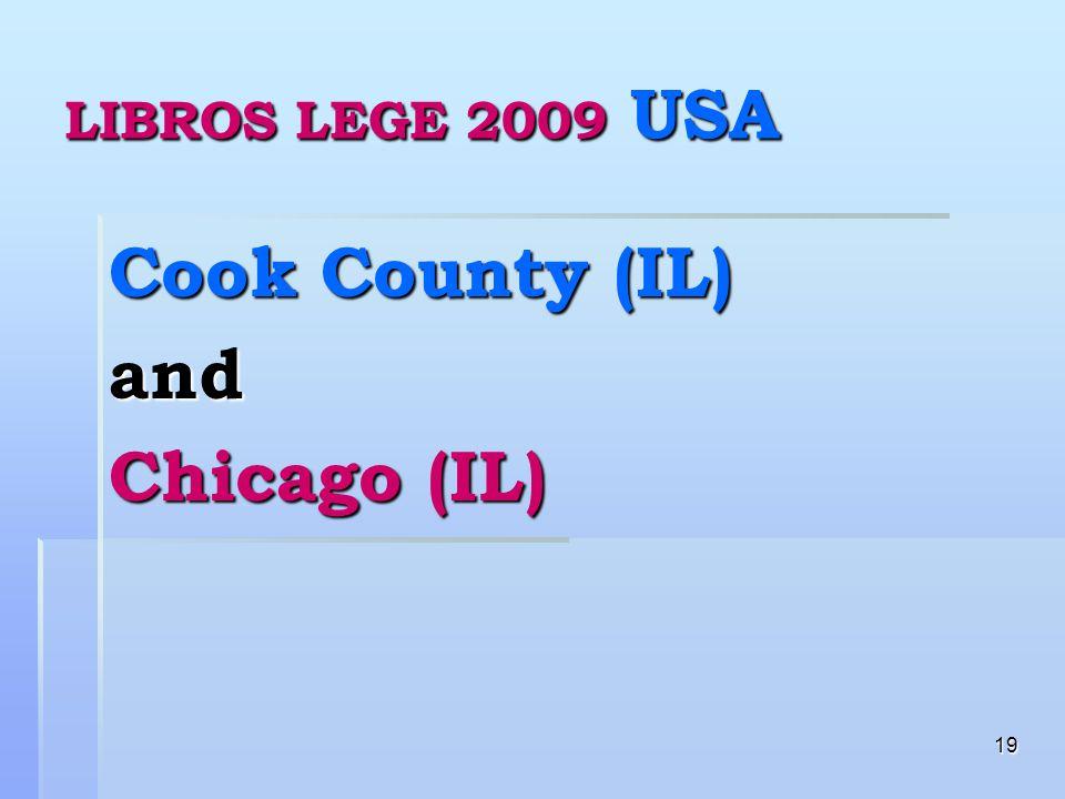 19 LIBROS LEGE 2009 USA Cook County (IL) and Chicago (IL)