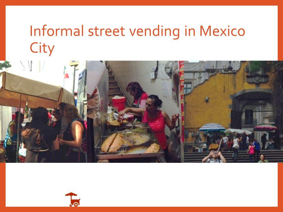 Informal street vending in Mexico City