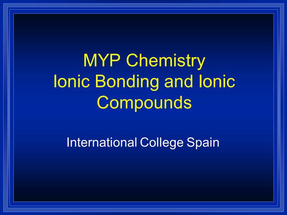Ionic Bonding NaCl