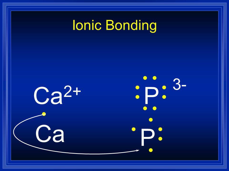 Ionic Bonding Ca 2+ P 3- Ca