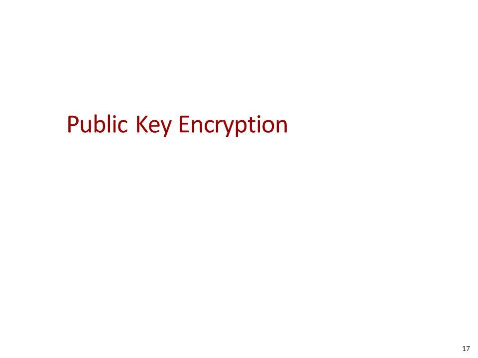 Public Key Encryption 17