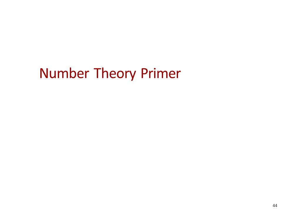 Number Theory Primer 44