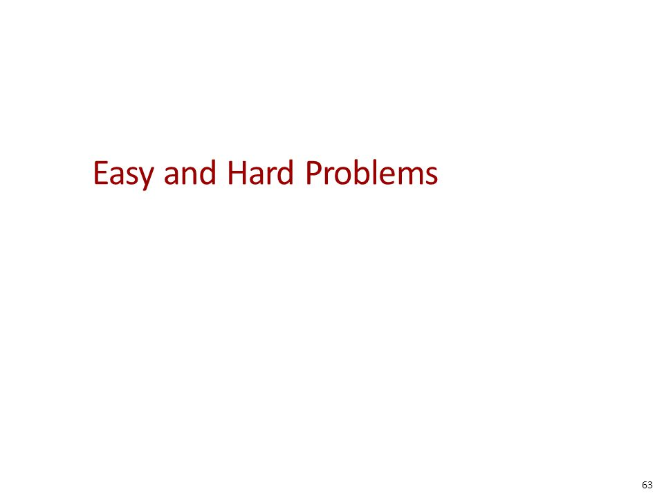 Easy and Hard Problems 63