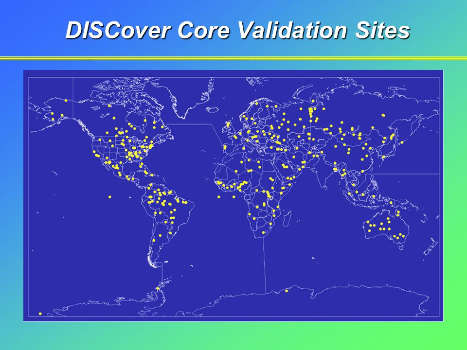 DISCover Core Validation Sites